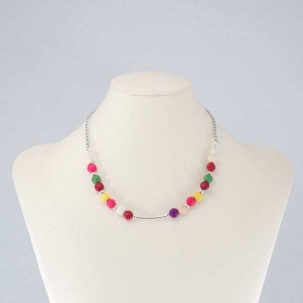 Collar de howlita multicolor