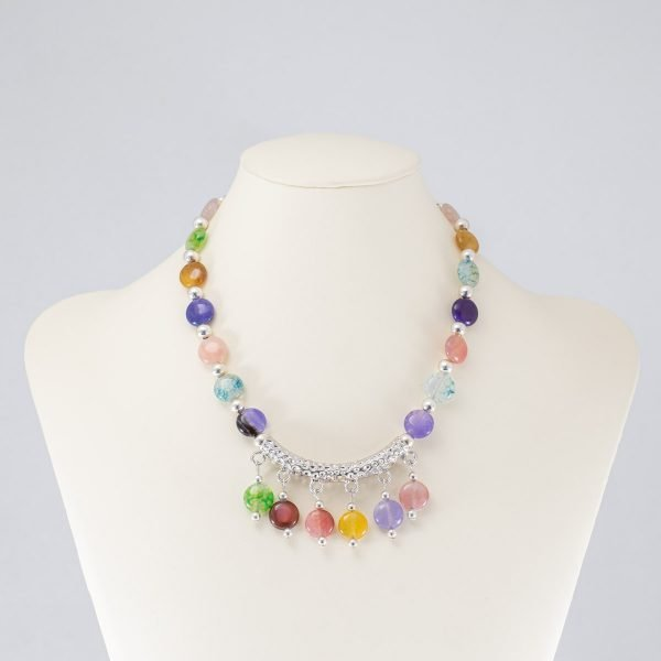 Collar de cristales multicolor