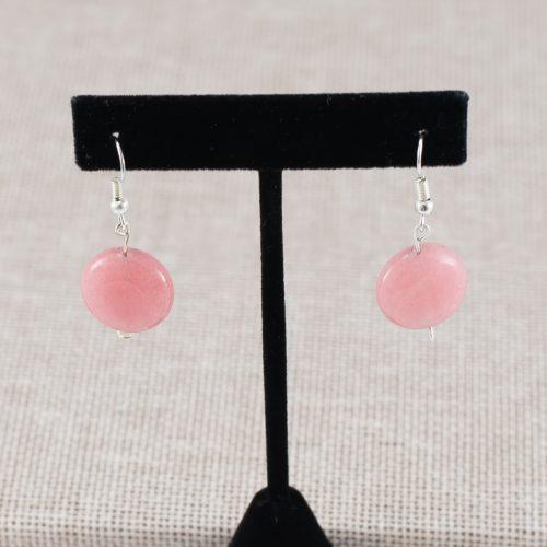 Aretes de cuarzo rosa