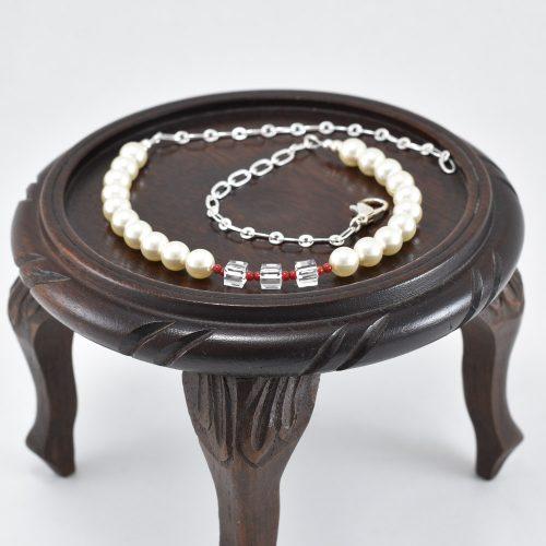 Collar de perlas y cristales Swarovski