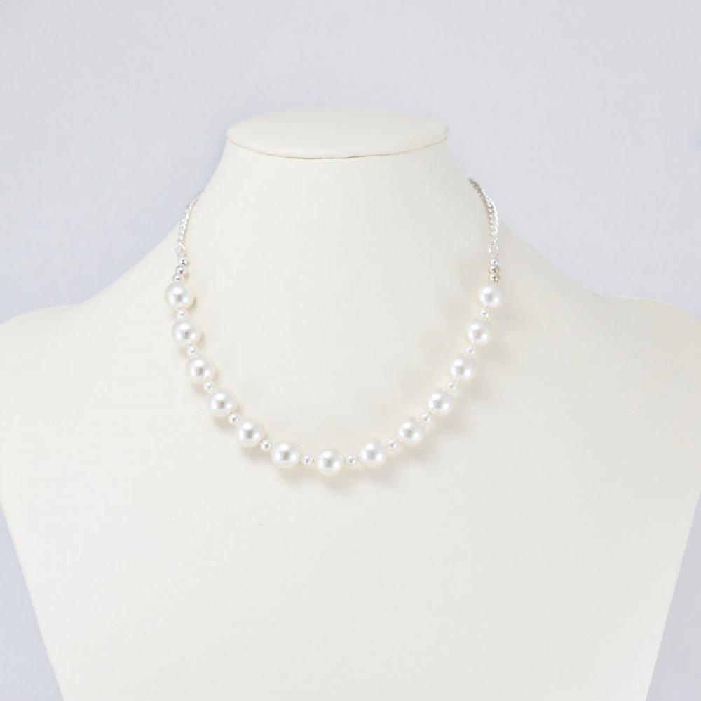 Collar de perlas Swarovski blancas
